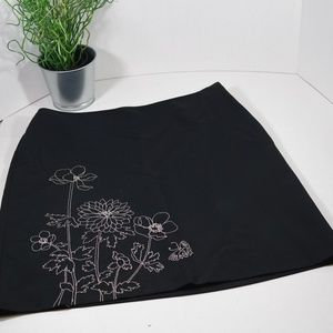 Ann Taylor Flower Embroidered Skirt Size 10P